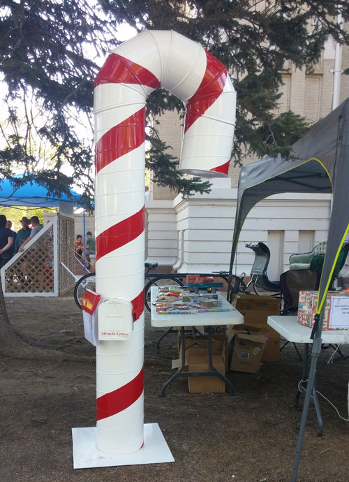 Candy Cane Mail Box At Sugar Beet Days