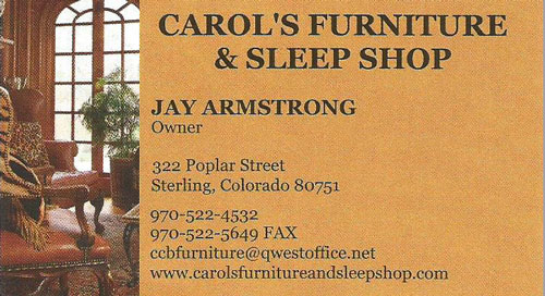 Carol's Furniture and Sleep Shop Logo