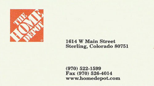 Home Depot Sterling Logo
