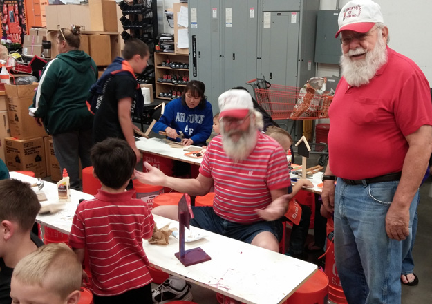Santas Workshop at Home Depot