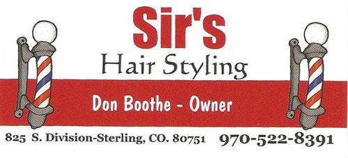Sir's Hair Styling Logo